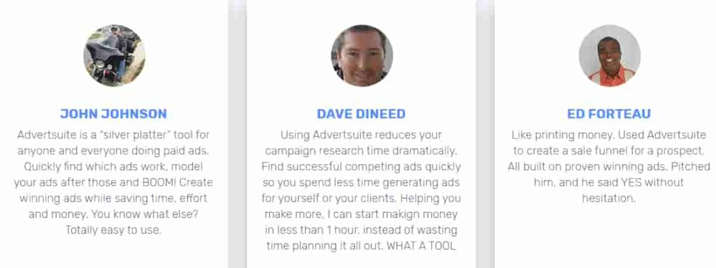Testimonial: Advertsuite. here you check out in this pic testimonial about adversuite review.