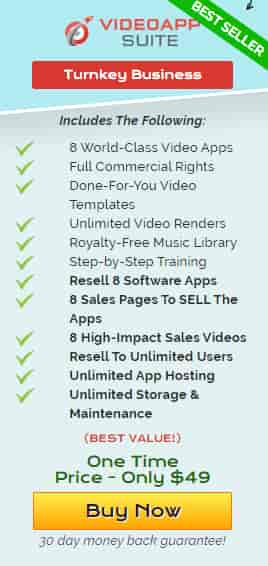 Video App suite, there is many option if you purchase it in only one time price $49